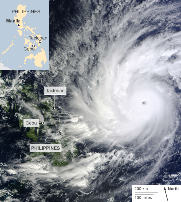 Satellite image of Typhoon Hagupit, 5 December 2014