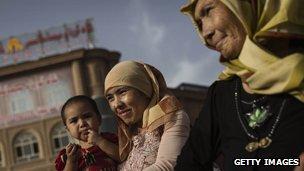 Uighur women in Kashgar