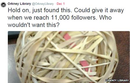 Orkney Library tweet