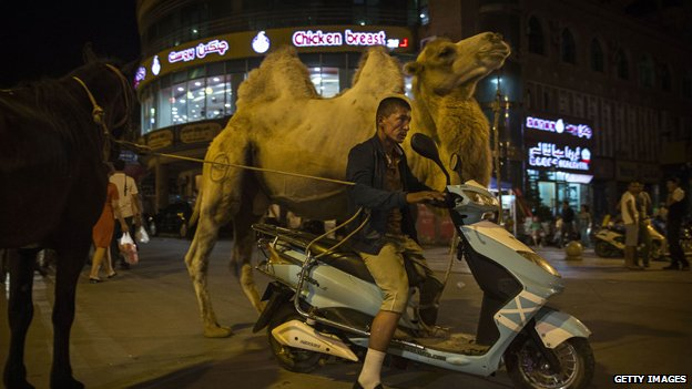 A scene in the city of Kashgar