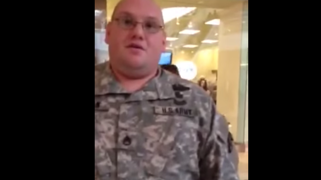 A video posted on YouTube of an alleged military faker