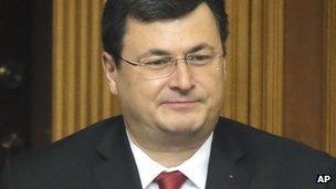 Ukraine's newly-appointed Health Minister Alexander Kvitashvili, a Georgian national, in parliament in Kiev, 2 Dec 2014