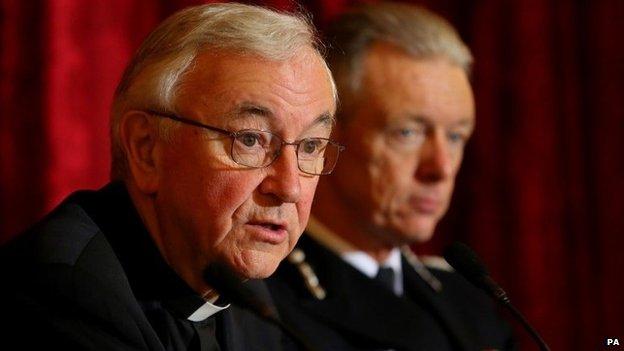 Cardinal Vincent Nichols and Sir Bernard Hogan-Howe
