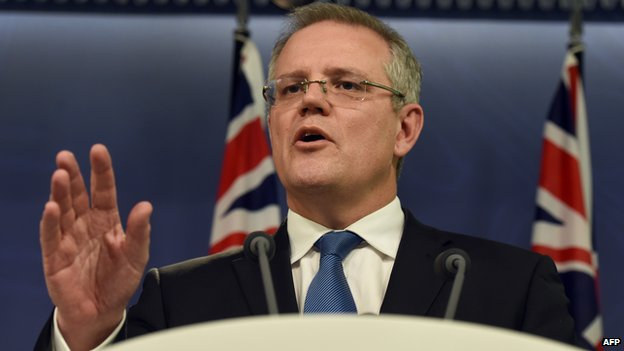 Australian Immigration Minister Scott Morrison announces at a press conference in Sydney on 25 July, 2014