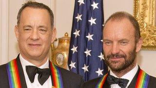 BBC News - Sting and Tom Hanks honoured by Obama