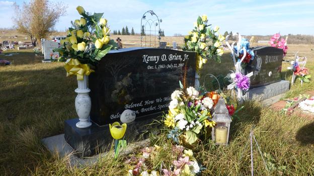 The grave of Jordan Brien's uncle