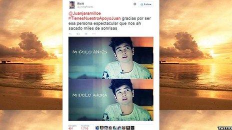 Tweet about Juan Pablo Jaramillo