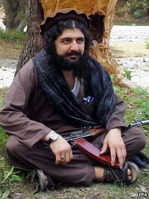 An undated handout picture shows Latifullah Mehsud at an undisclosed location near the Pakistan-Afghan border