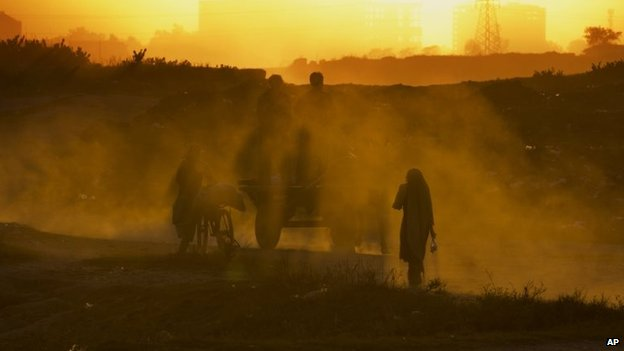 People displaced from Pakistan's tribal areas due to fighting between the Taliban and the army, on the outskirts of Islamabad, Pakistan, Nov 19