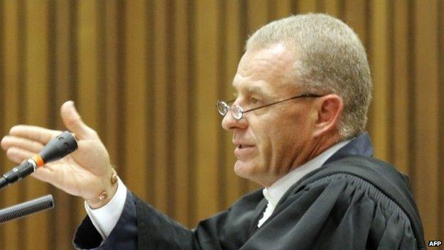Gerrie Nel in court on 9 December 2014