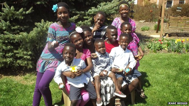 Jeane and Paul's children and grandchildren adopted from Ghana
