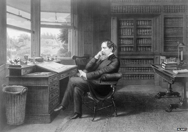 Dickens in his study at Gad's Hill Place