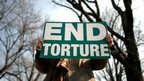 Anti-torture protester in Washington, file pic