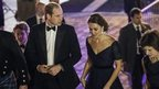 Prince William, Duke of Cambridge, and his wife, Catherine, Duchess of Cambridge) arrive at the Metropolitan Museum of Art in New York