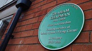 BBC News - Plaque for Monty Python star Graham Chapman's former home