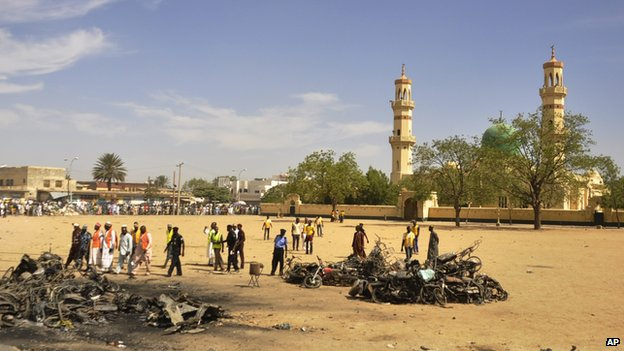 Aftermath of Kano mosque bombing