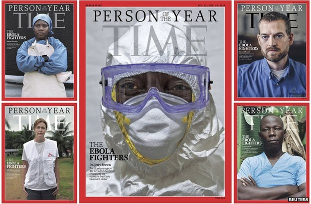 cover of time magazine person of the year award with various doctors on cover.