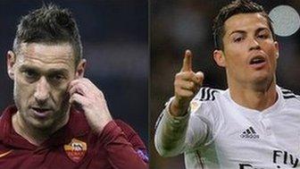 Totti and Ronaldo