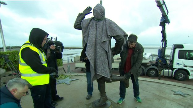 Eric Morecambe statue put in place