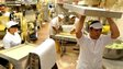 Italian pasta workers in Rome - file pic