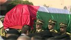 Zaid Abu Ein's coffin being carried