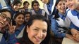 Shaimaa Khalil and schoolgirls celebrate the Nobel Peace Prize given to Malala