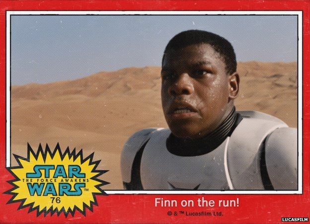 Star Wars trading card