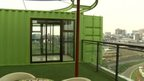 Shipping container apartment