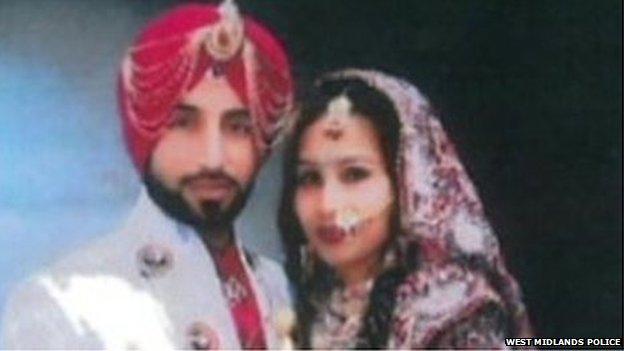 Jasvir Ginday and bride Varkha Rani