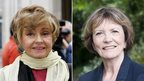 Prunella Scales (l) and Joan Bakewell