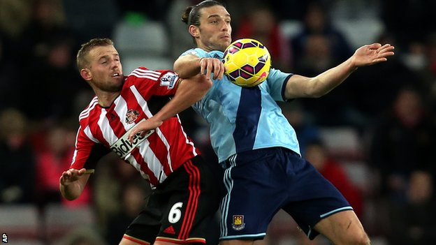 Andy Carroll and Lee Cattermole