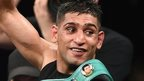 Amir Khan celebrates his win