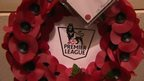 Poppy wreath with Premier League logo