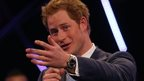 Prince Harry presents Invictus award