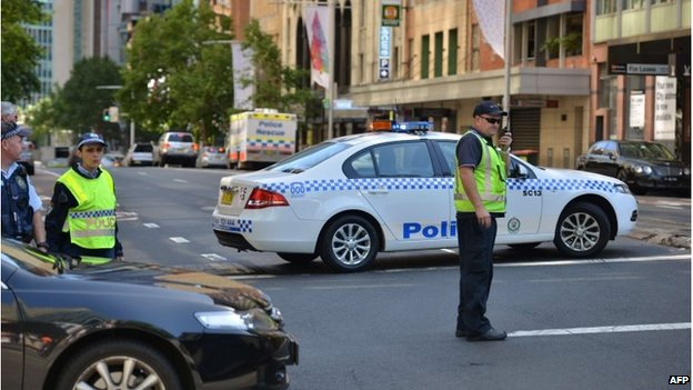 Police cordon around Martin Place