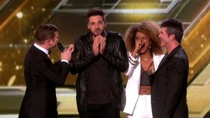 Ben Haenow and Fleur East on stage