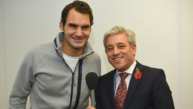 Roger Federer and John Bercow