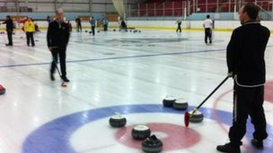 Curling at Deeside Leisure Centre