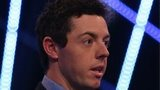 Rory McIlroy at the BBC Sports Personality of the Year on Sunday evening