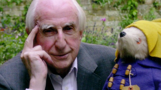 Michael Bond with Paddington
