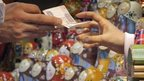 Russian dolls for sale near Red Square, Moscow. 15 Dec 2014