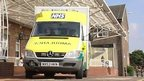 An NHS ambulance
