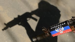 Shadow of Russian soldier