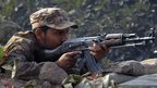 A Pakistani army soldier involved in an armed incident in Peshawar