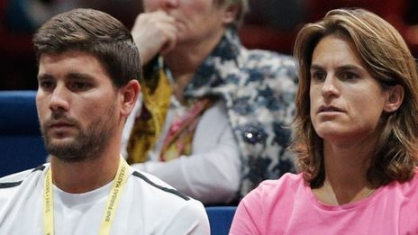 Daniel Vallverdu and Amelie Mauresmo