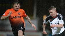Dundee United's Paul Paton and Aberdeen's Jonny Hayes