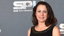 Jo Pavey at the BBC Sports Personality of the Year awards show