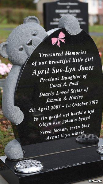 April Jones headstone