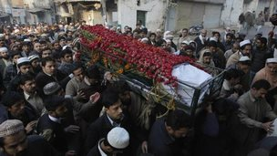 Funeral of student in Peshawar, 17 Dec