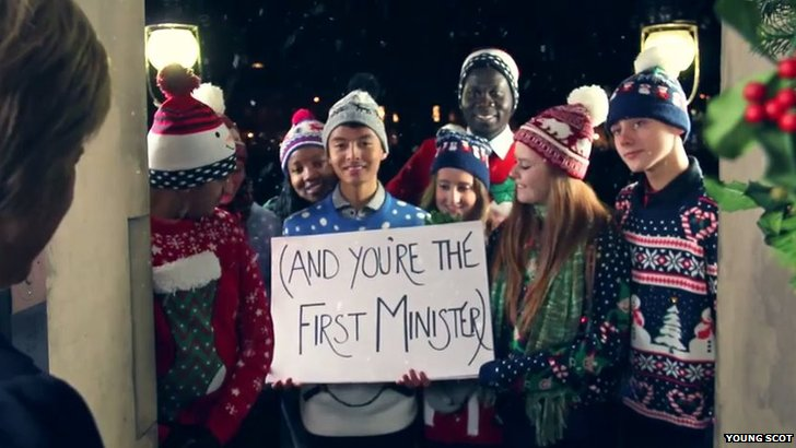 Nicola Sturgeon's Christmas message in Young Scot video